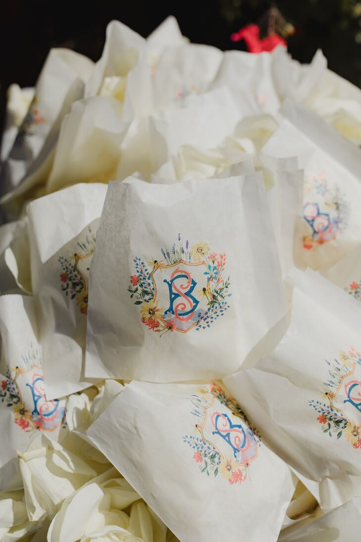 Wedding Favors with Colorful Monogram