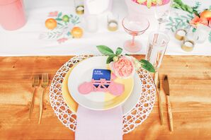 Bright Pink, Playful Place Settings