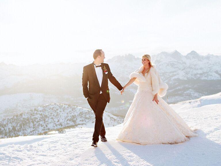 Winter wedding venue in Mammoth Lakes, California.