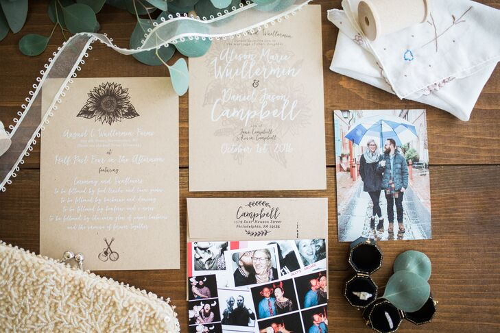Photographs with Invitations and Stationery
