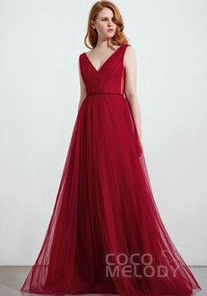 CocoMelody Bridesmaid Dresses CB0263 V-Neck Bridesmaid Dress
