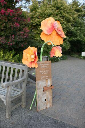 Vibrant Paper Flower Ceremony Decor