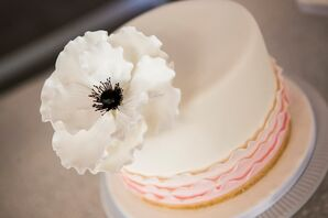 White Cake with White Flower