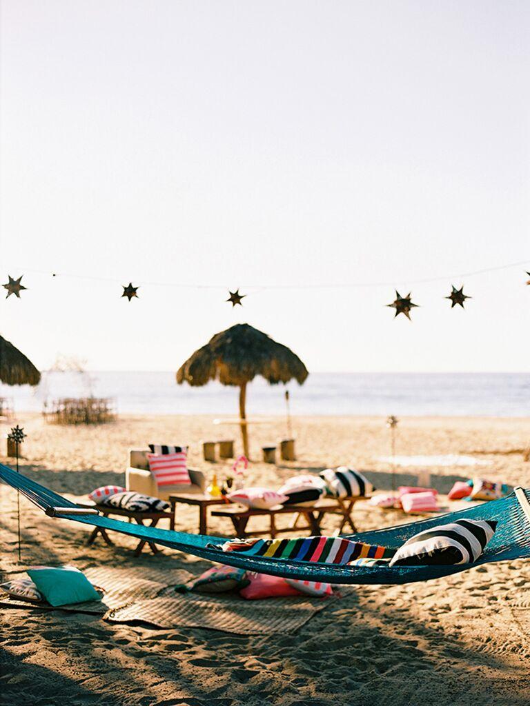 Beach-themed decoration ideas for wedding reception