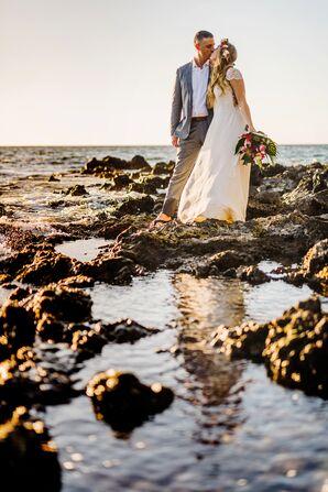 Waterfront Wedding Photos in Kapaau, Hawaii