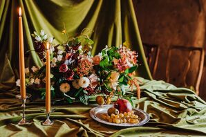 Elegant Table with Centerpiece and Candles