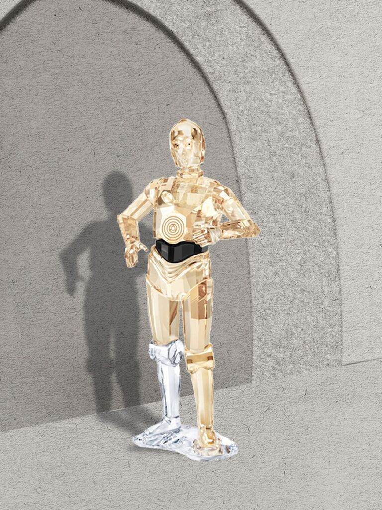 C-3PO from Star Wars ornament made with Swarovski crystal