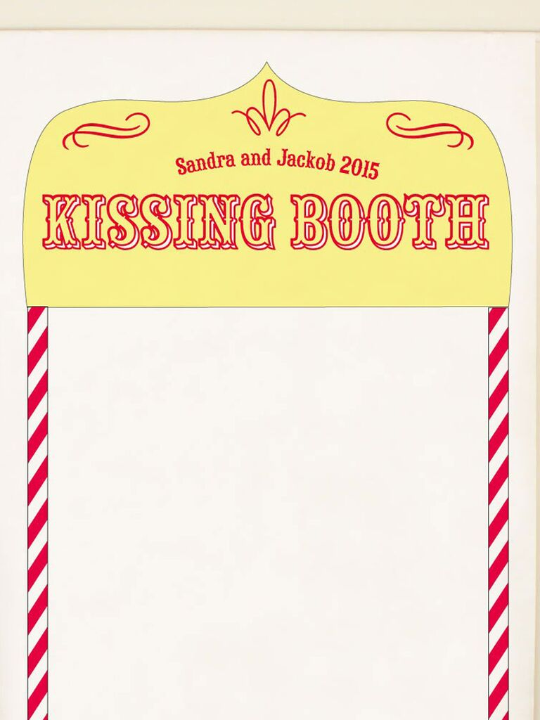 Joint bach party kissing booth