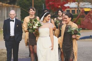 Vintage Industrial Wedding Attire
