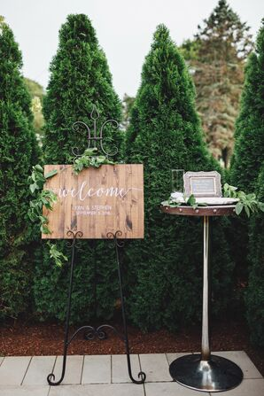 Whimsical Wooden Welcome Sign