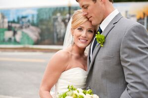 Navy, Green and Gray Winter Wedding
