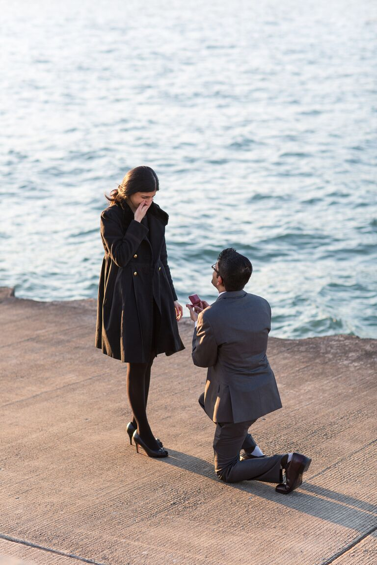 Marriage proposal photography