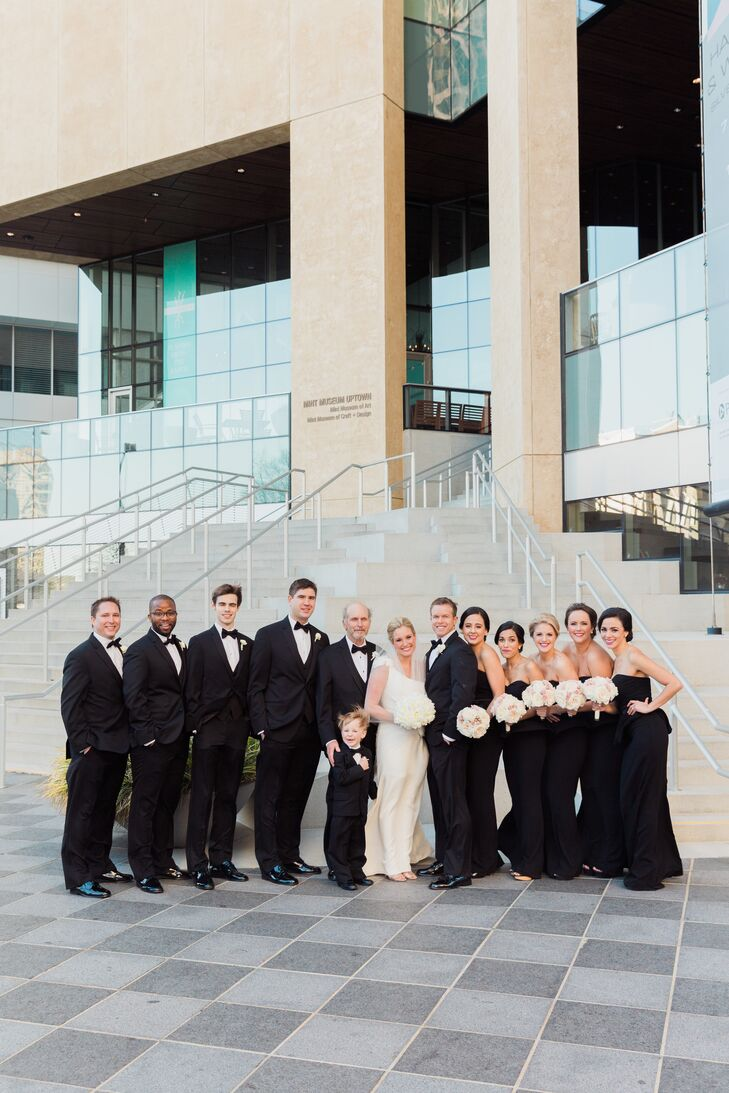 Formal Black-Tie Wedding Party Attire