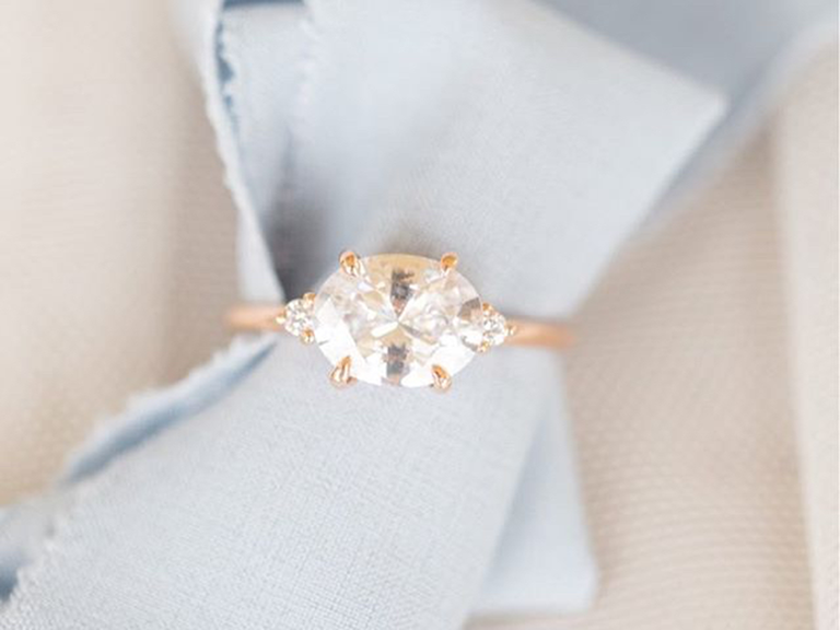 b2c4315e00d62 Modern East-West Engagement Rings You'll Love