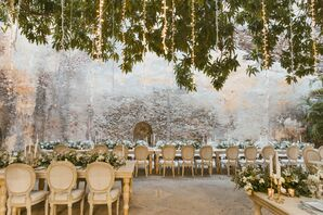 Rustic Reception at a Historic House in Cartagena, Colombia