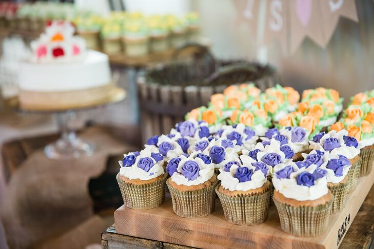 Assorted Floral Wedding Cupcakes