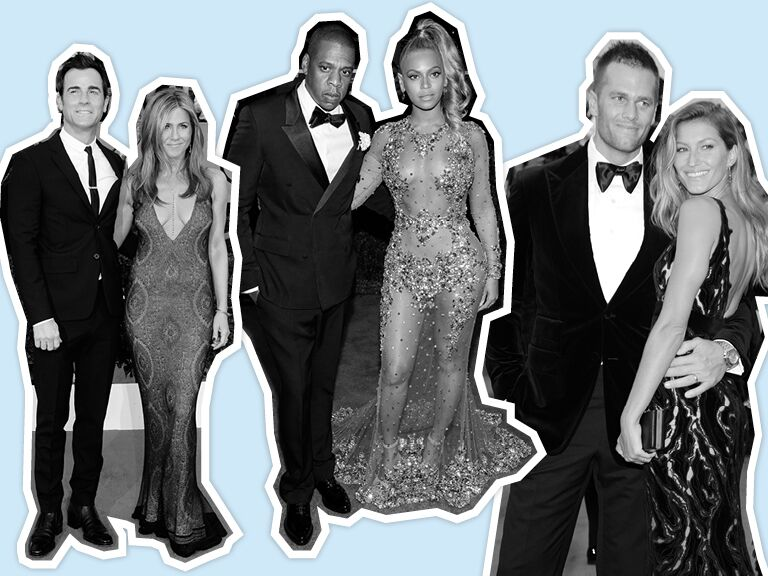 Jennifer Aniston and Justin Theroux, Jay Z and Beyonce, Tom Brady and Gisele Bundchen