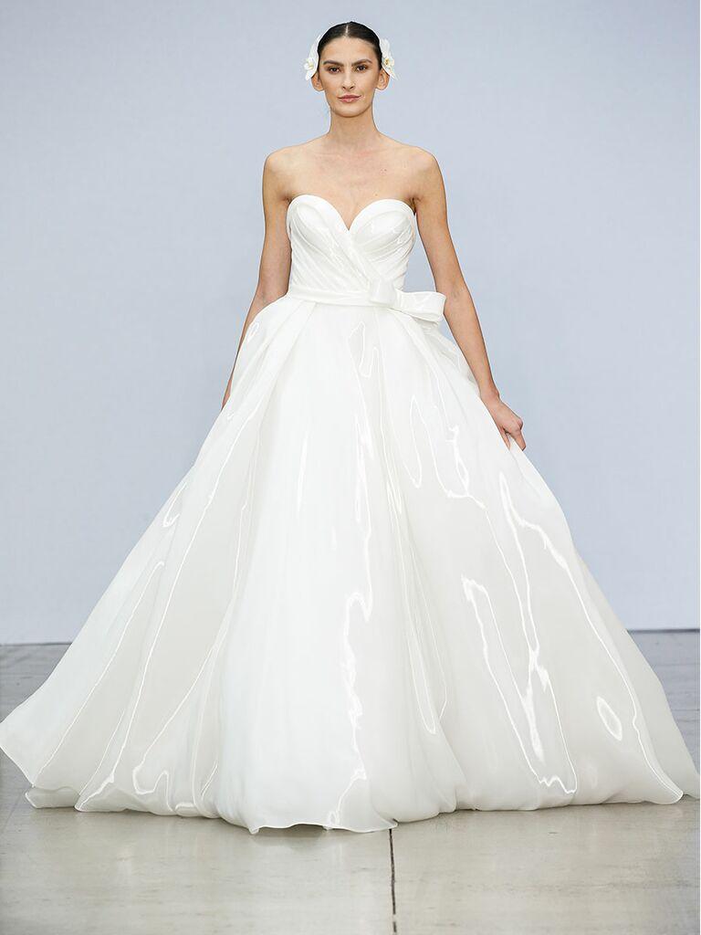 Pnina Tournai wedding dress sweetheart ball gown