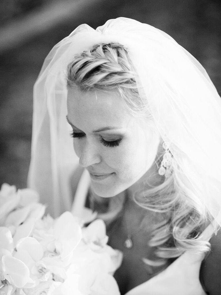 wedding braid hairstyles french braid crown