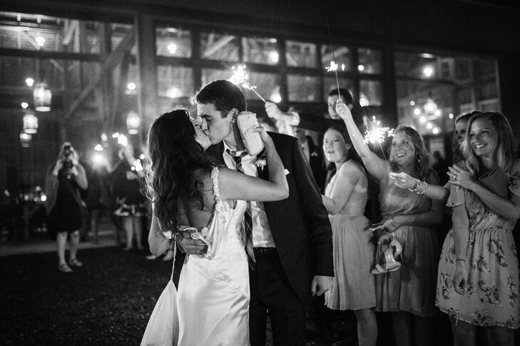 Sparkler Exit at Glamorous Leesburg, Virginia Wedding
