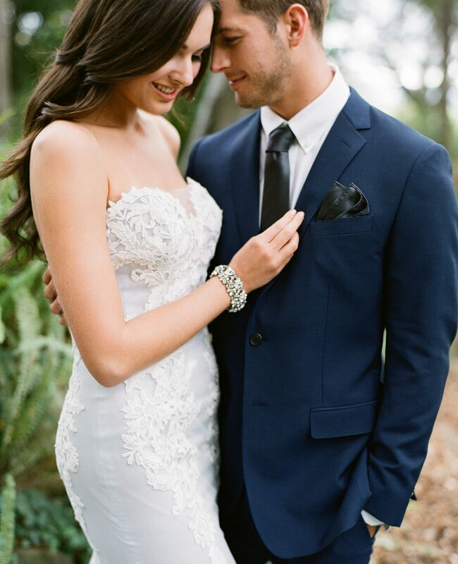 Blue Ines DiSanto wedding dress | Jose Villa | blog.theknot.com