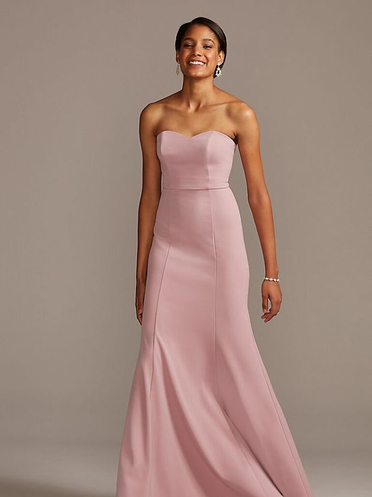 Formal pink bridesmaid dress under $100
