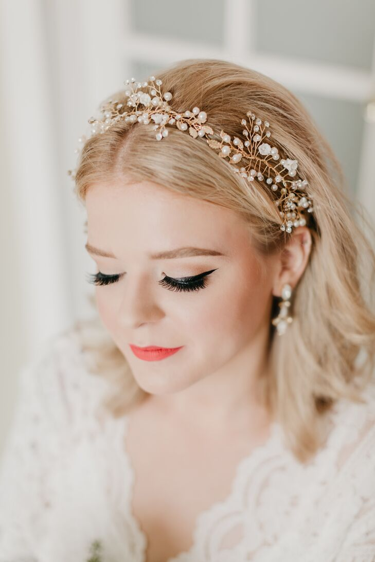 Romantic Bride with Beaded Headband