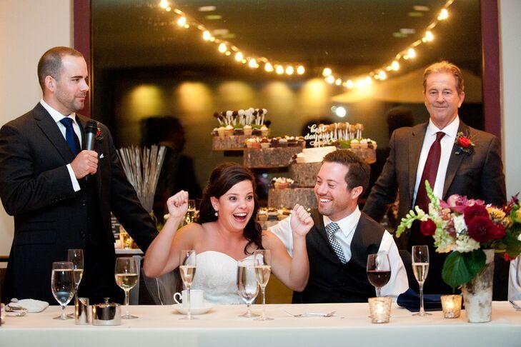 Tara and Danny Wedding Reception at Westin Riverfront Resort