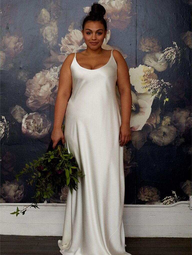 Plus Size Slip Wedding Dress