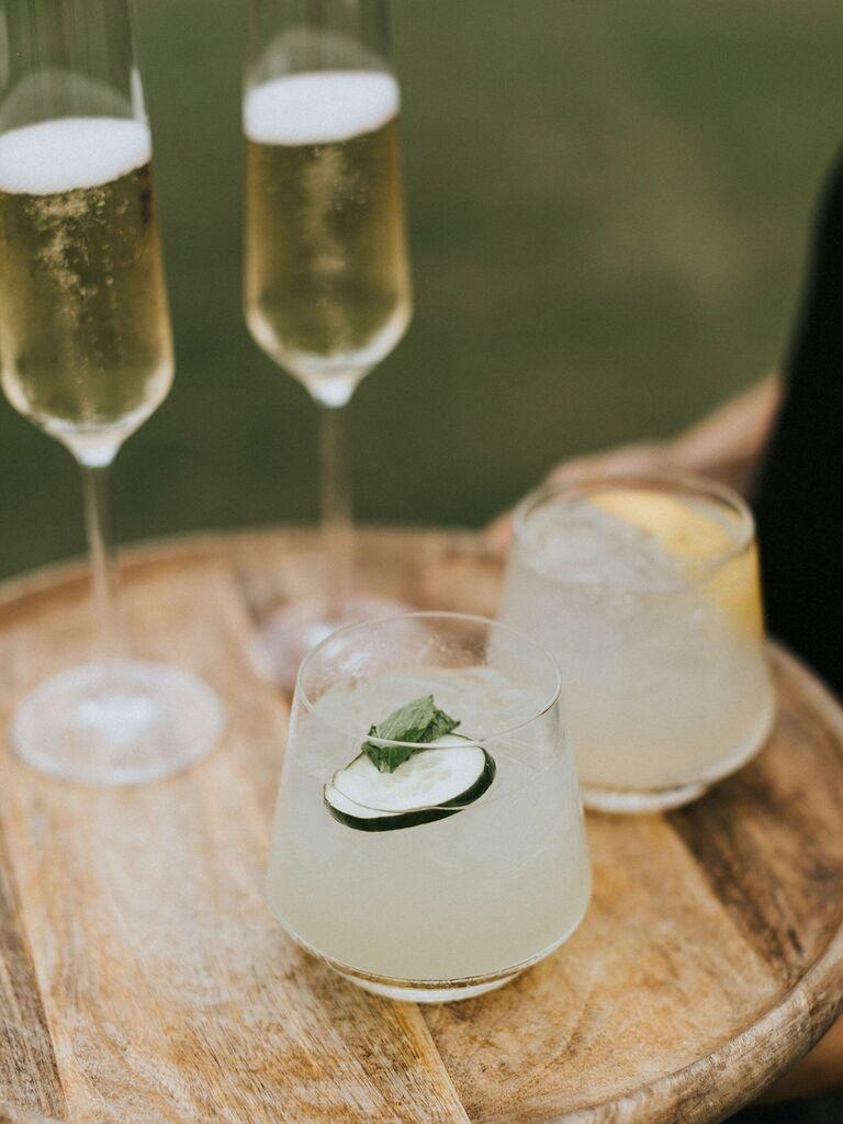 wedding drink ideas margarita and champagne