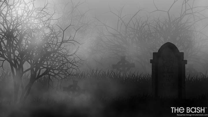 Halloween Zoom Background - Spooky Graveyard