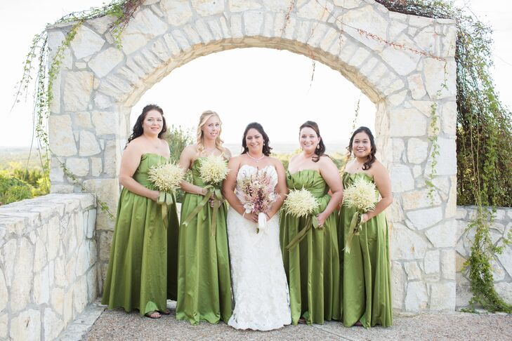 Green Floor-Length Bridesmaid Dresses
