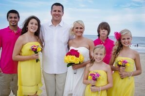 Hot Pink and Yellow Wedding Party