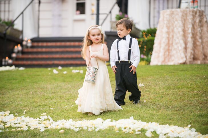 fc8075450 Ashley and Andrew's Adorable Flower Girl and Ring Bearer