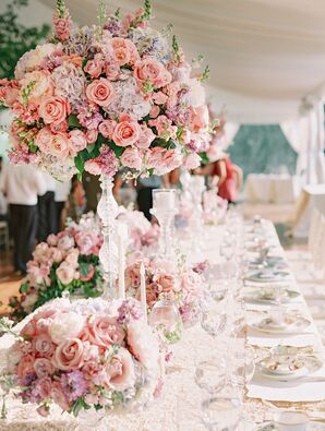Lavish Pink Rose Centerpiece