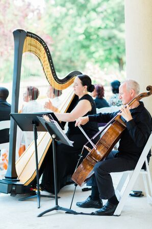 Wedding Harpist at Brambleton Golf Course in Ashburn, Virginia