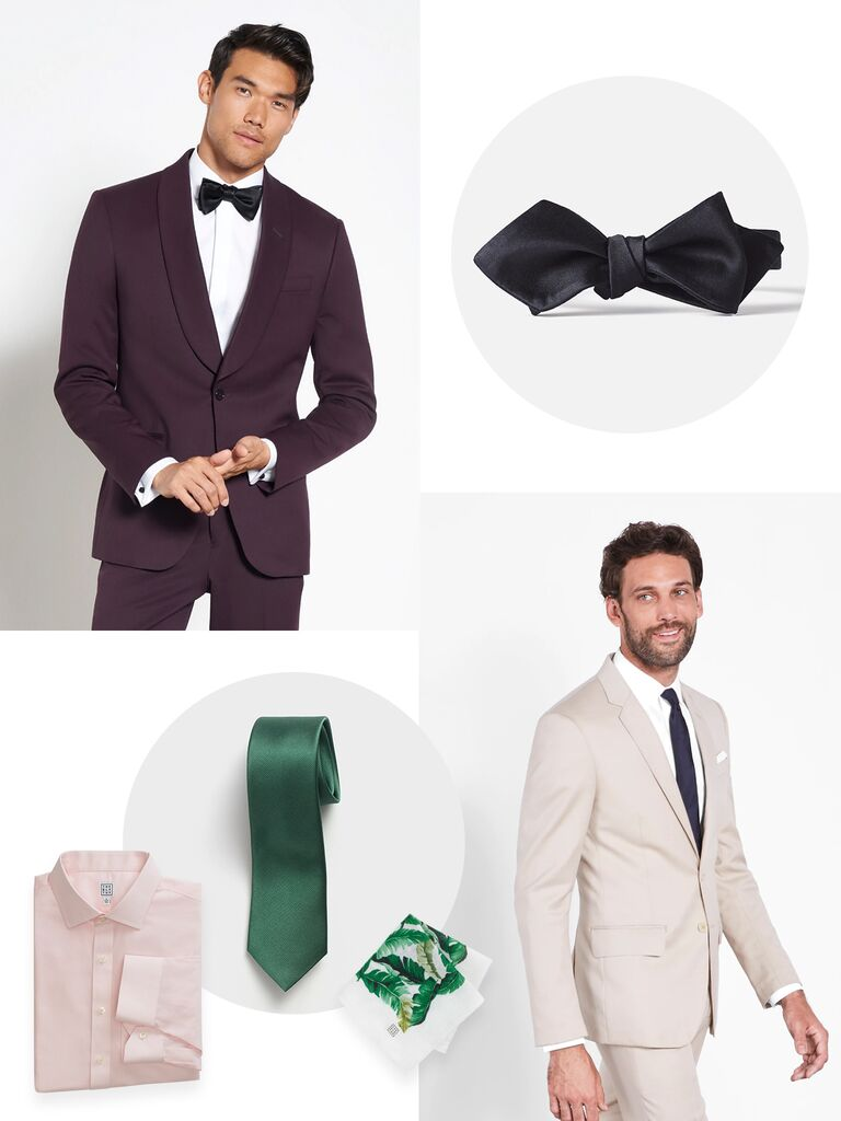 bold colors and prints 2019 groom trend wedding