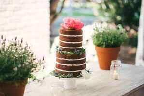 Two-Tier Naked Vanilla Cake