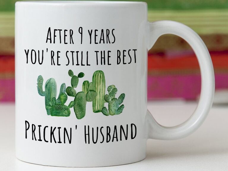 Design Novelties 9th anniversary gift mug