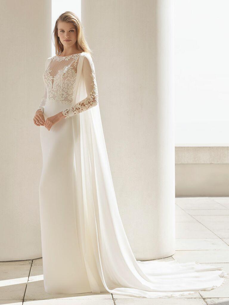 Rosa Clará Fall 2018 wedding dresses gown with sleeve train