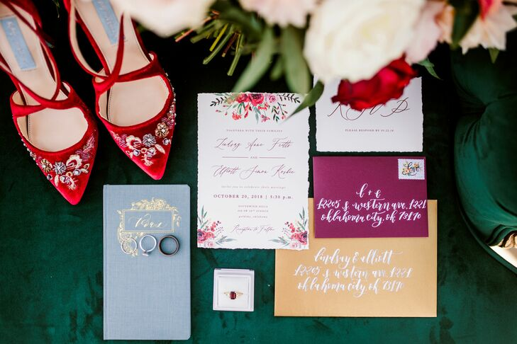 Colorful, Vintage-Inspired Invitations