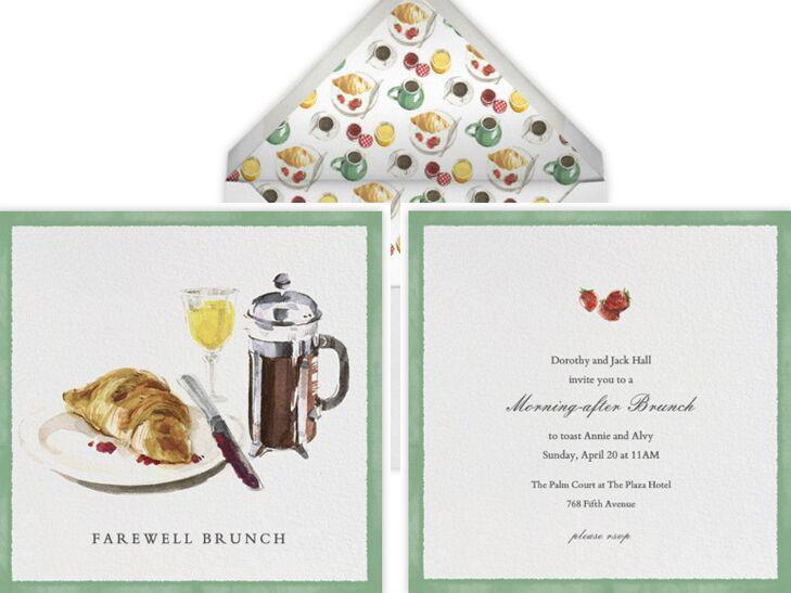 Paperless Post brunch invitation