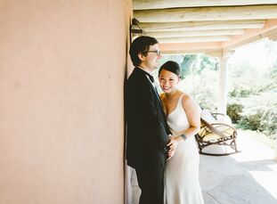 Mia Yu and Ian Bothwell infused their love of the Southwest into their summer wedding with details that paid tribute to New Mexico's culture and lands