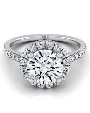RockHer Elegant Round Cut Engagement Ring