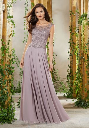 MGNY 71903 Gray Mother Of The Bride Dress