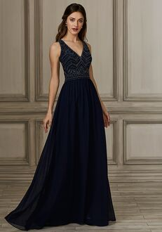 Adrianna Papell Platinum 40152 V-Neck Bridesmaid Dress