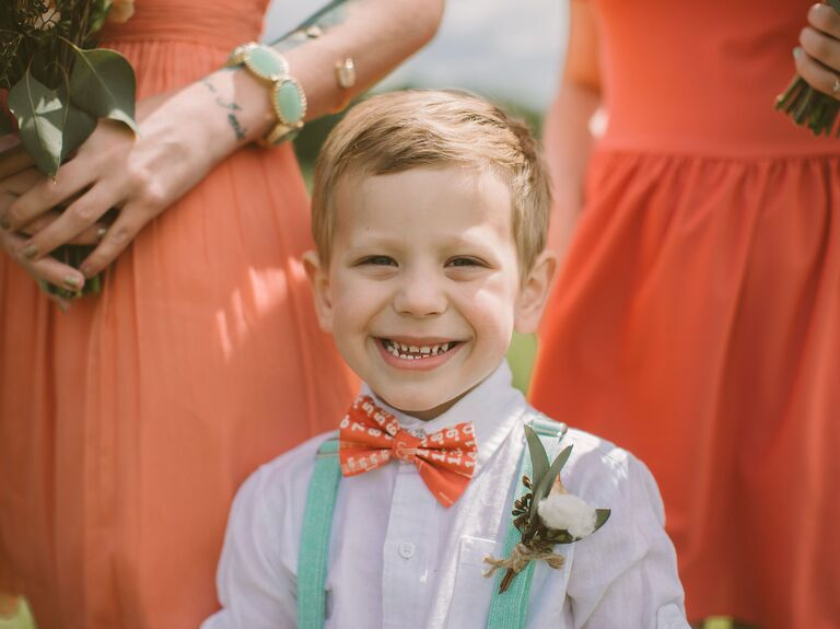 Ring bearer and bridal party