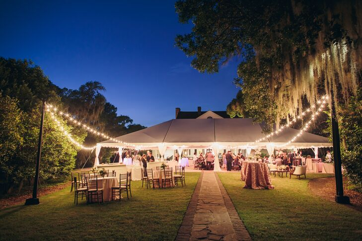 Outdoor Cocktail-Hour and Tented Reception Venue