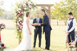Rustic Wedding Ceremony with Wood Arch