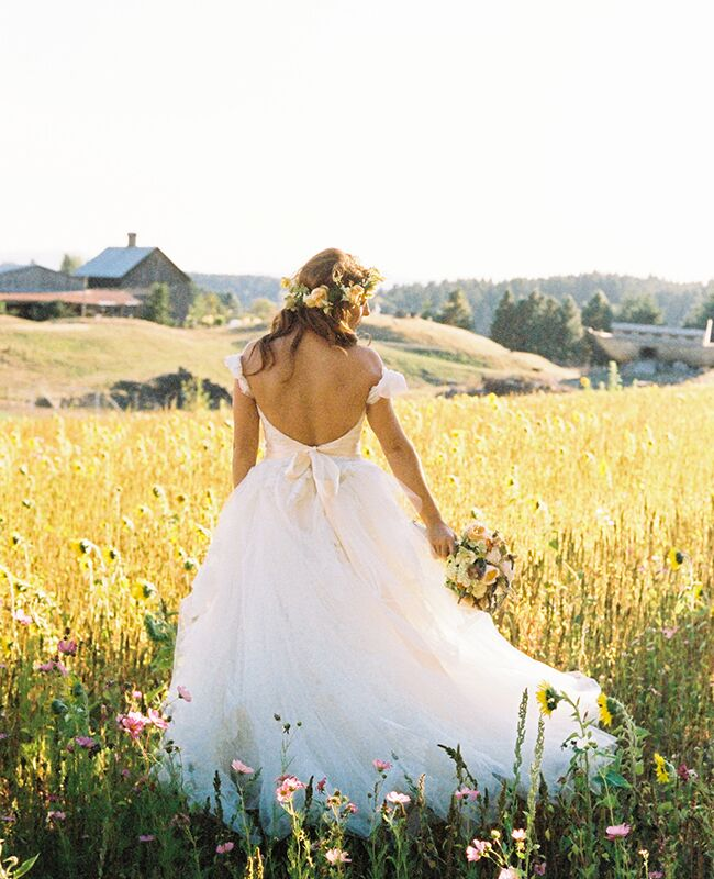 Audrey Roloff shows off the back of her wedding dress